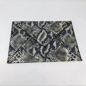H&M Faux Snake Python Skin Envelope Clutch